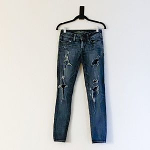 American Eagle ripped jeans.
